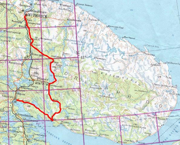 Общая схема маршрута